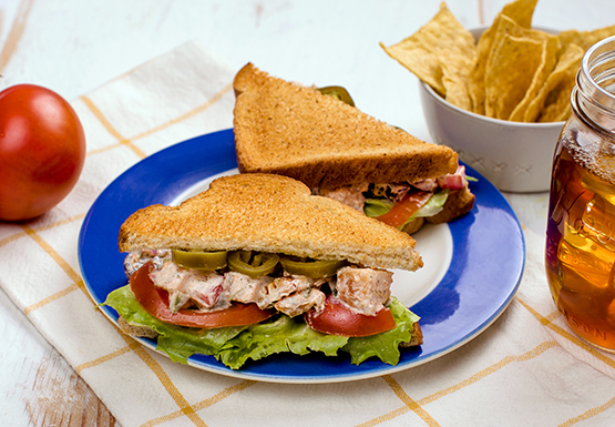 Jalapeño Ranch Chicken Salad Sandwich